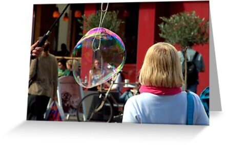 Paris - Blond, Red and Bubble... by Jean-Luc Rollier