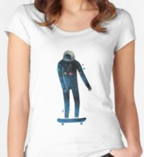 Skate/Space Women's Fitted Scoop T-Shirt