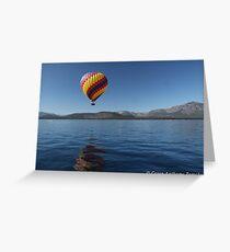 Ballooning over Lake Tahoe Greeting Card