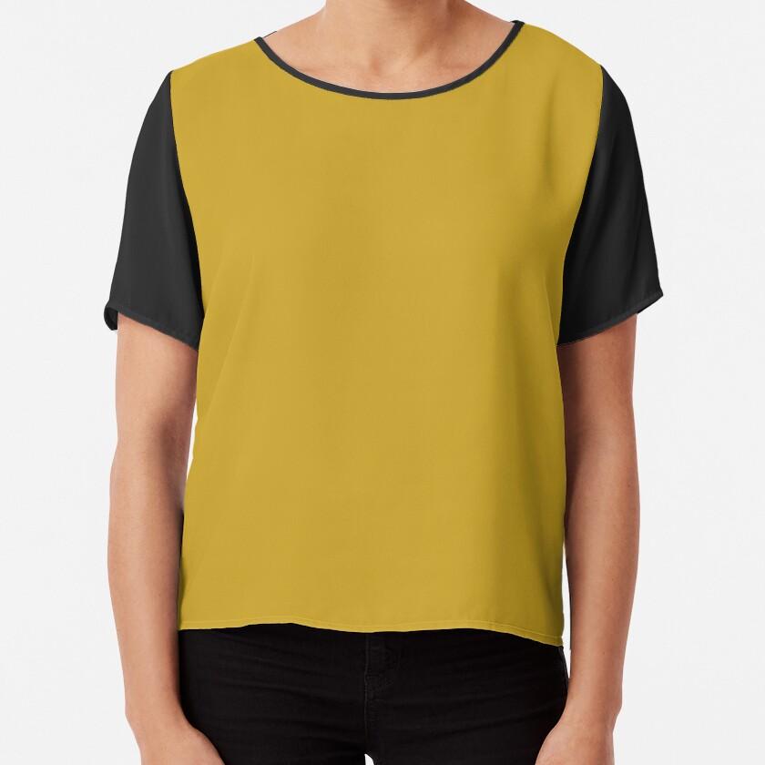 Lemon Curry 15-0751 TCX   Pantone   Color Trends   London   Fall Winter 2017   Solid Color   Fashion Colors   Chiffon Top