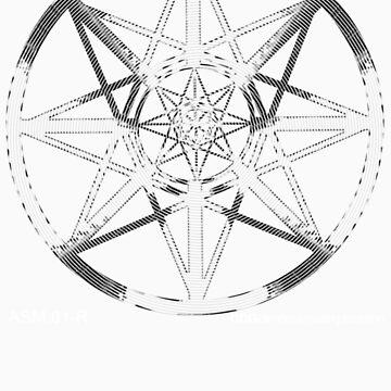 Lucas Darklord - Asmoir Probe Logo - White by CryptDesigners