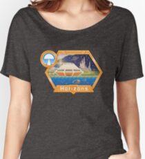 Horizons EPCOT Pavilion Pixel Art Mit Sea Base Alpha, Mesa Verde, Brava Centauri und dem Prolog und dem Versprechen von Robert McCall Loose Fit T-Shirt