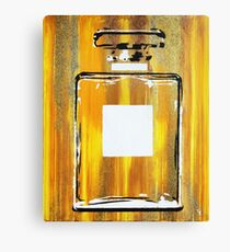 Yellow 5 Perfume Bottle Canvas Print
