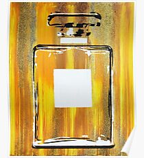 Yellow 5 Perfume Bottle Poster