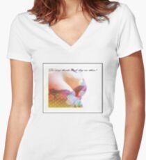 do my boobs look big in this II Women's Fitted V-Neck T-Shirt