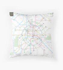 Paris metro map Throw Pillow