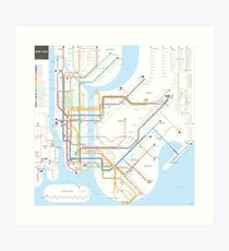 Subway Map Wall Art Wall Art Stickers Wall Decal Huge Underground Tube Map.New York Subway Map Gifts Merchandise Redbubble