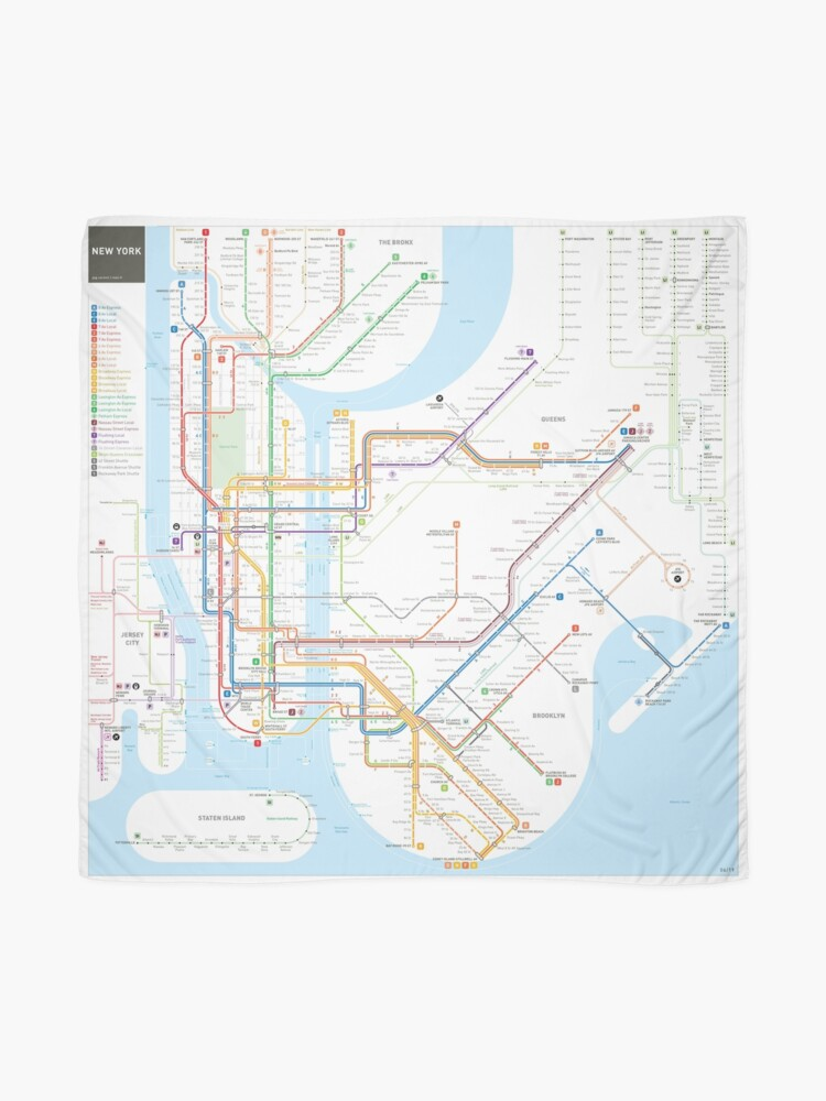Alternative Nyc Subway Map.New York City Subway Map Scarf