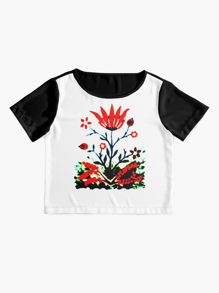 Alternate view of Forest Fire Flower Chiffon Top