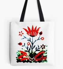 Forest Fire Flower Tote Bag