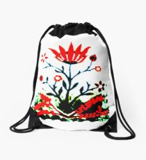 Forest Fire Flower Drawstring Bag
