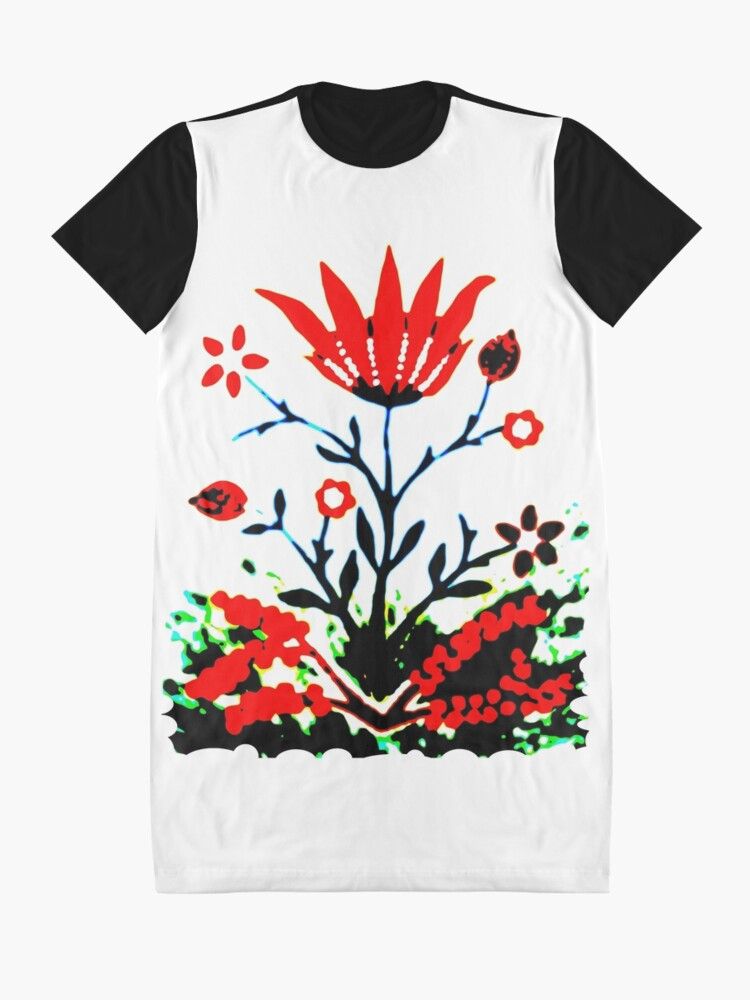 Alternate view of Forest Fire Flower Graphic T-Shirt Dress