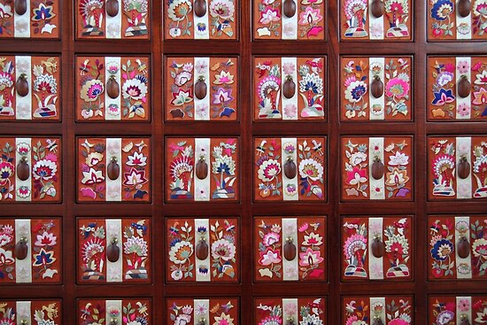 Folk Flower Pattern, Korean Embroidered Chest by Jane McDougall