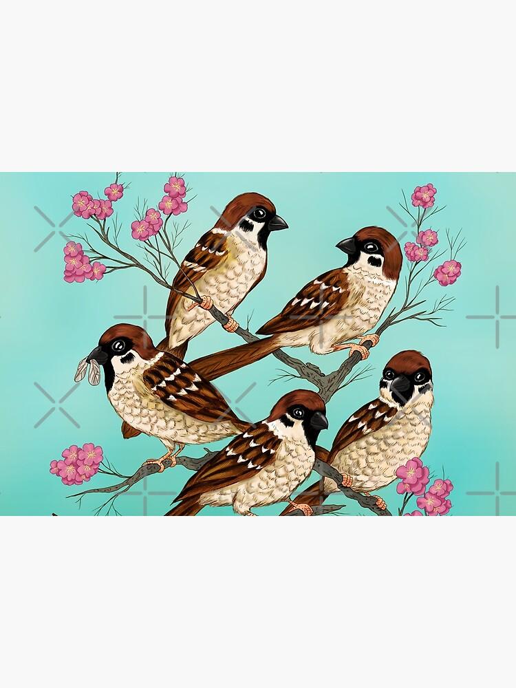 Sakura Sparrows by FireRabbit