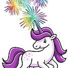 Purple Unicorn Fireworks by BigAl3D
