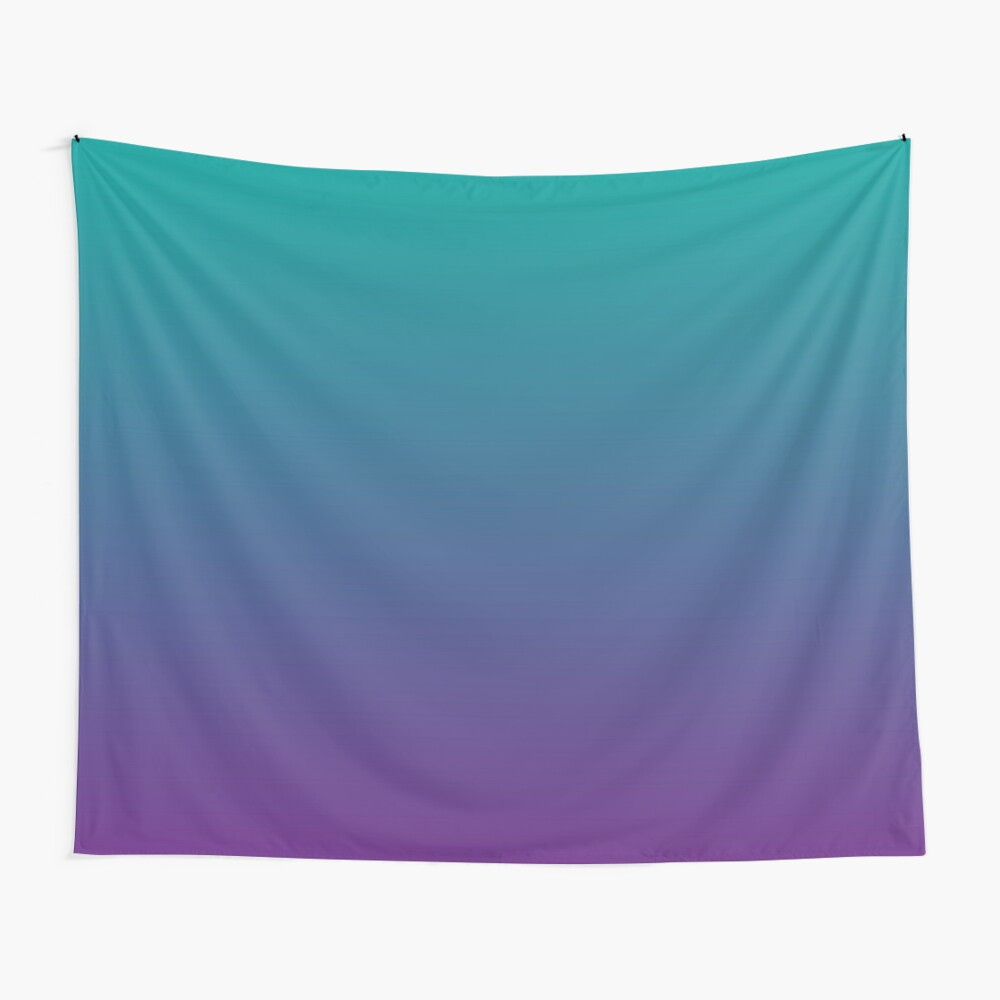 Ombre | Gradient Colors | Teal and Purple |  Wall Tapestry