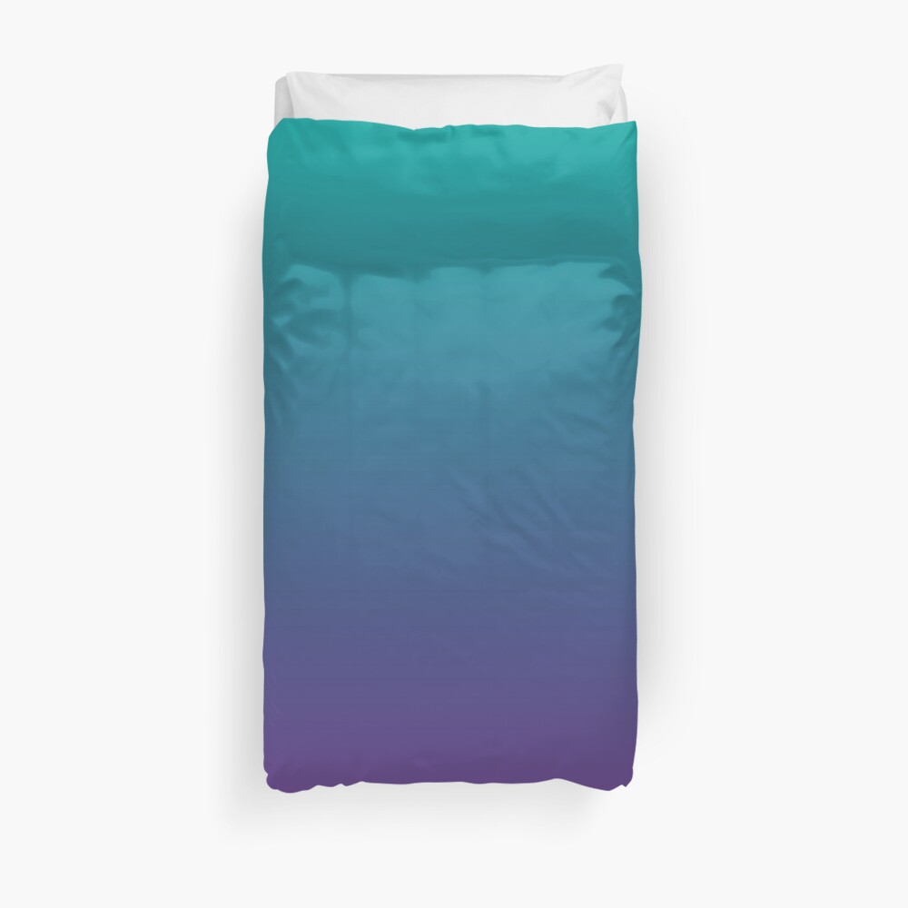 Ombre | Gradient Colors | Teal and Purple |  Duvet Cover
