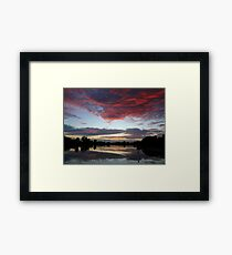 Nature's Paint Brush At Work Framed Print