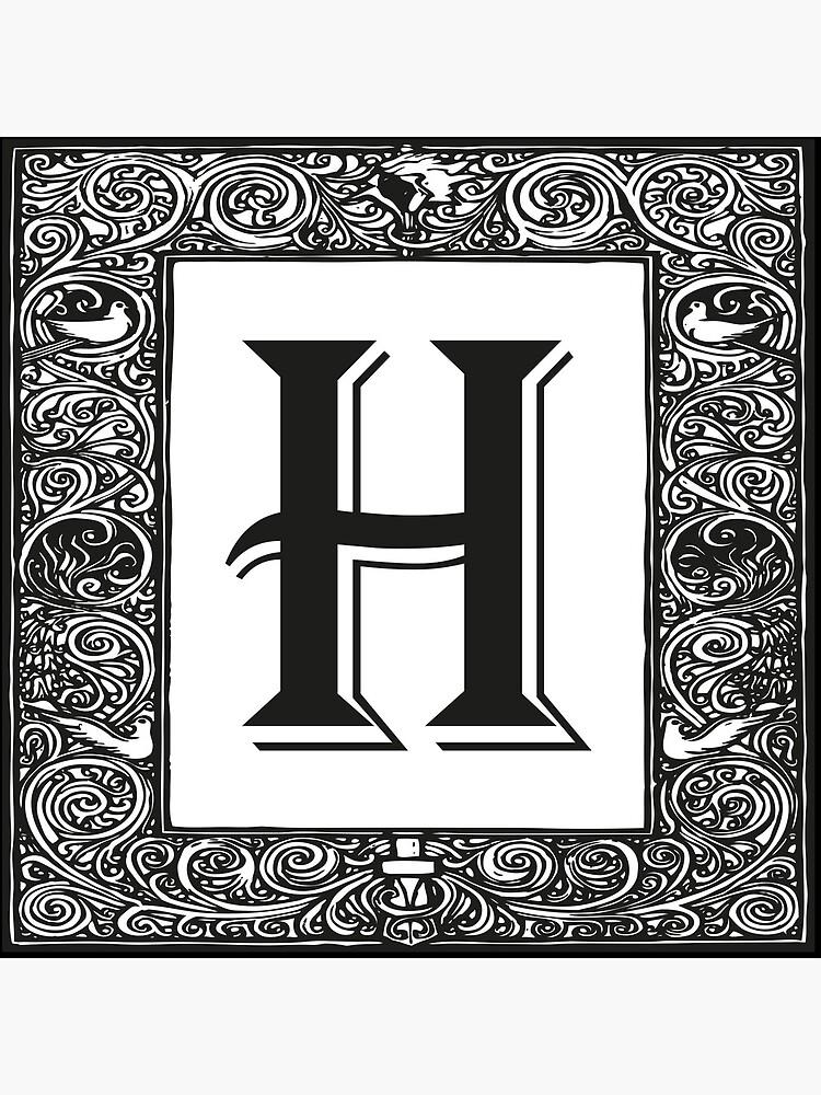 Vintage Monogram | Letter H |  by EclecticAtHeART