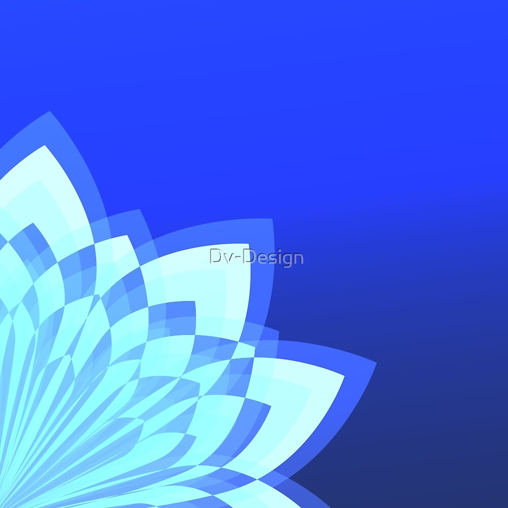 Blue Abstract Flower by Dv-Design