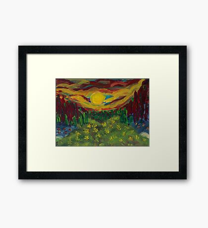 A Different Sunset  Framed Print