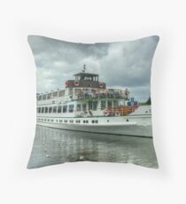 The Swan, Bowness-On-Windermere Throw Pillow