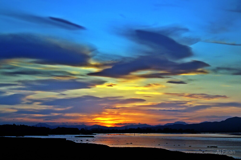 Painted Sunset. by Aj Finan
