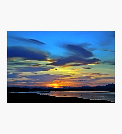 Painted Sunset. Photographic Print