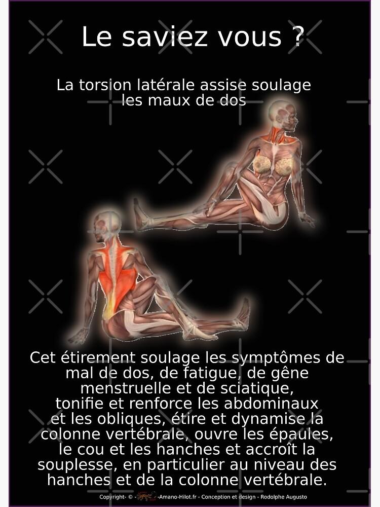 «Planches Musculo-squelettique des positions de Yoga - N°6» par rodolphe-a