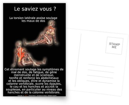 Planches Musculo-squelettique des positions de Yoga - N°6