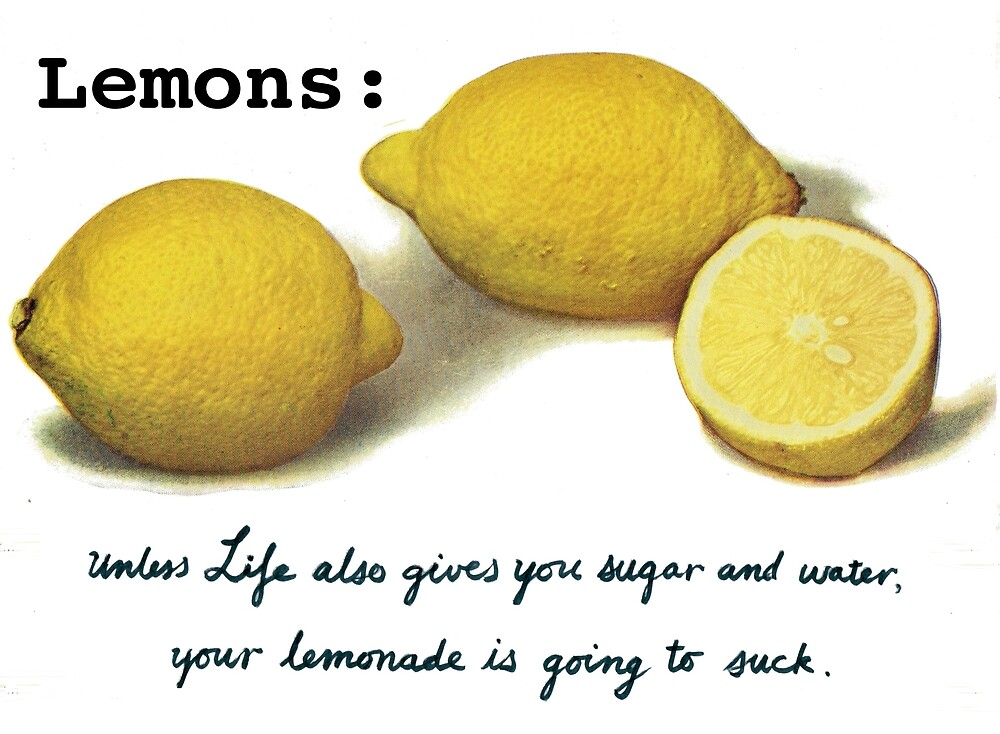 When Life Gives You Lemons.... by VintageQuill
