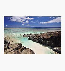Black Rock - Rarotonga, the Cook Islands Photographic Print