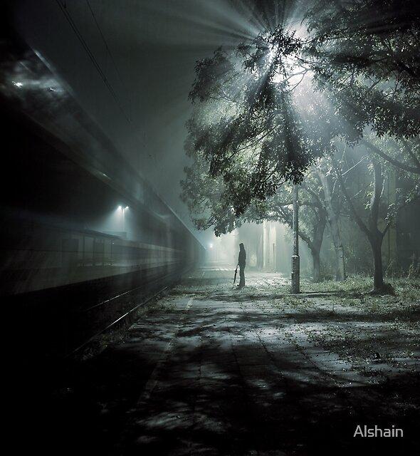 Waiting for train spectrum by Alshain