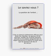 Planches Musculo-squelettique des positions de Yoga - N°12 Impression sur toile