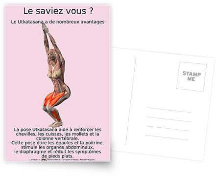 Planches Musculo-squelettique des positions de Yoga - N°19