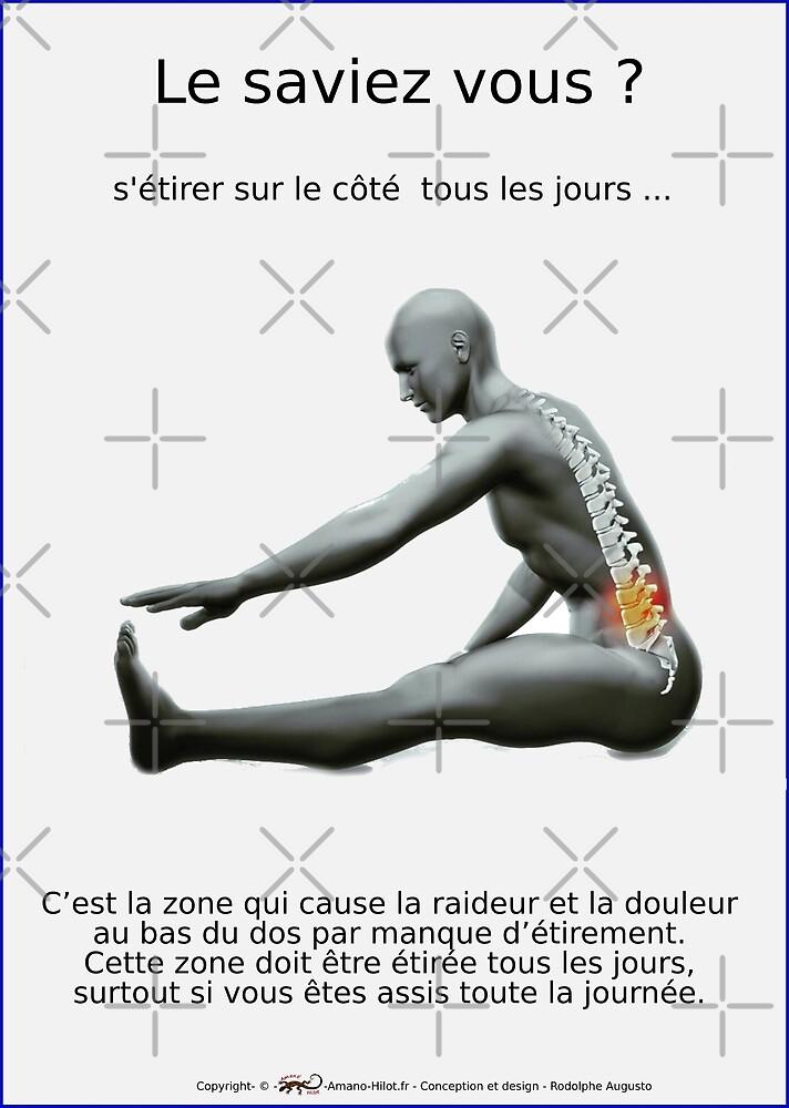 « Planches Musculo-squelettique des positions de Yoga - N°21 » par rodolphe Augusto