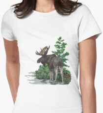 Moose watercolor  T-Shirt