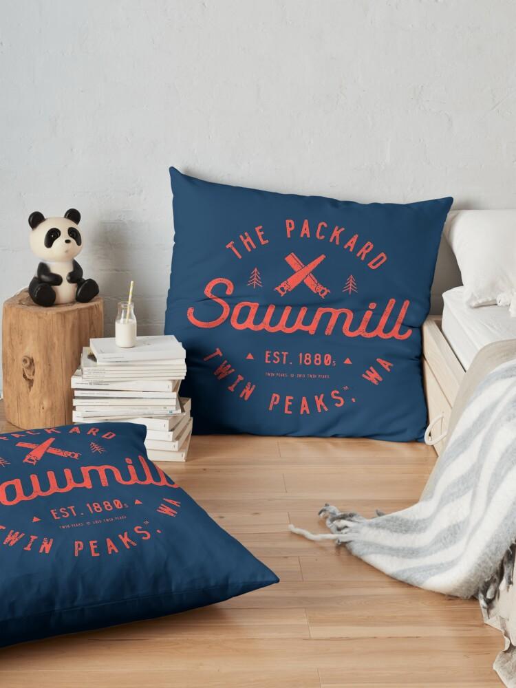 Alternate view of The Packard Sawmill, Twin Peaks Floor Pillow