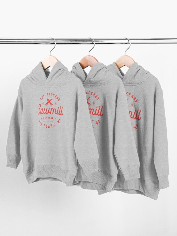 Alternate view of The Packard Sawmill, Twin Peaks Toddler Pullover Hoodie