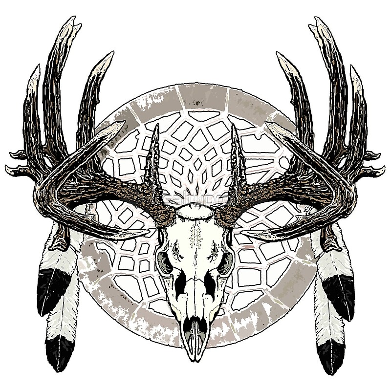 Quot Deer Skull Dream Catcher Quot By Saltypro Redbubble