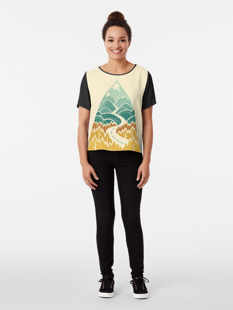 Alternate view of The Road Goes Ever On: Autumn Chiffon Top
