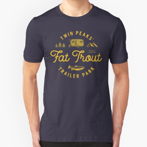 Twin Peaks Fat Trout Trailer Park Slim Fit T-Shirt