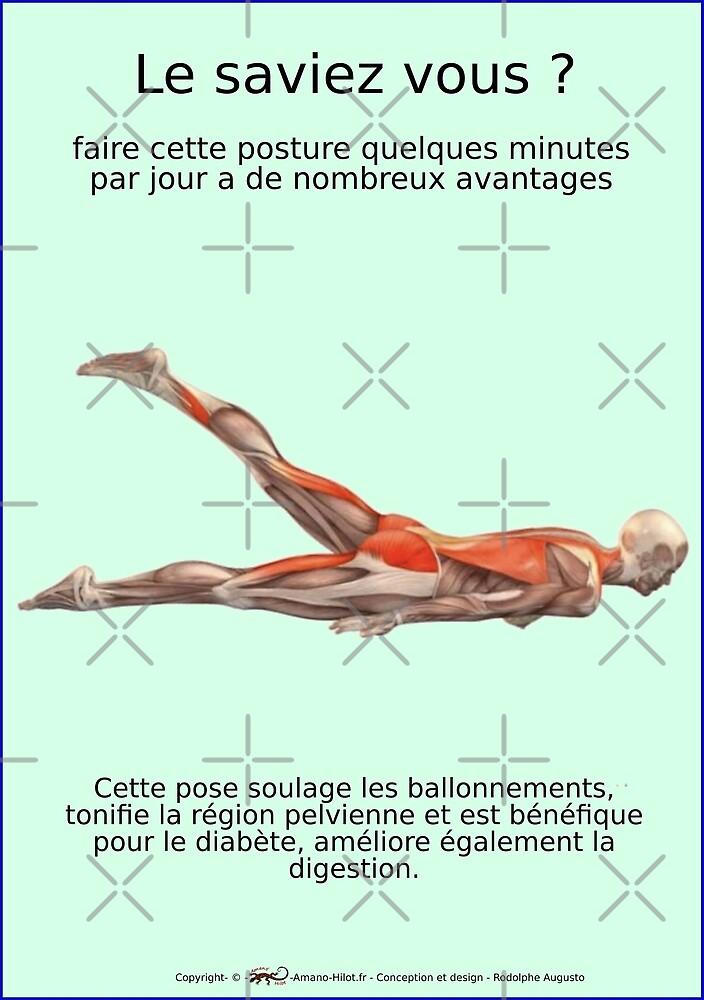 « Planches Musculo-squelettique des positions de Yoga - N°26 » par rodolphe Augusto