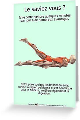 Planches Musculo-squelettique des positions de Yoga - N°26