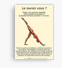 Planches Musculo-squelettique des positions de Yoga - N°27 Impression sur toile