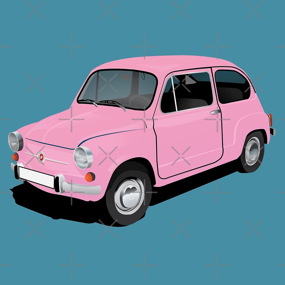 Retro automobile Fiat 600 by knappidesign