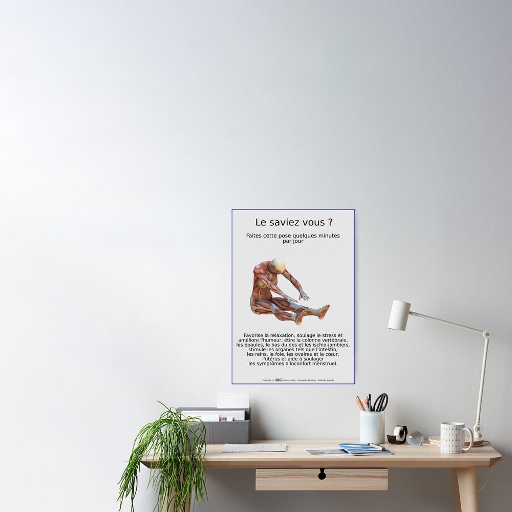 Poster «Planches Musculo-squelettique des positions de Yoga - N°33»