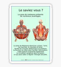 Planches Musculo-squelettique des positions de Yoga - N°34 Sticker