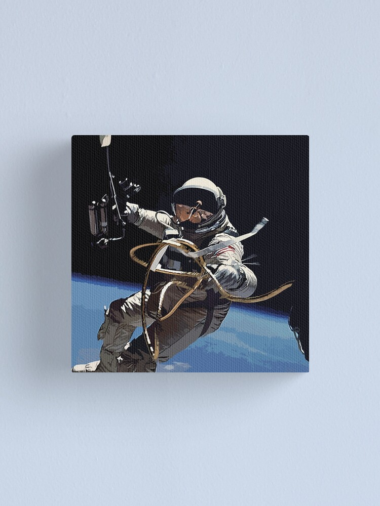 Alternate view of Astronaut Ed White's Spacewalk Colour Vector Art Canvas Print