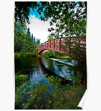 Rainbow Bridge with super wide angle Poster